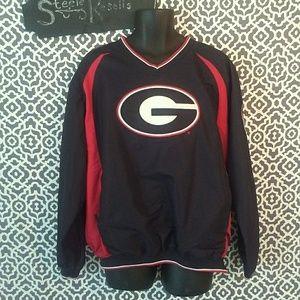 UGA Georgia Bulldogs Pullover Jacket Size Large